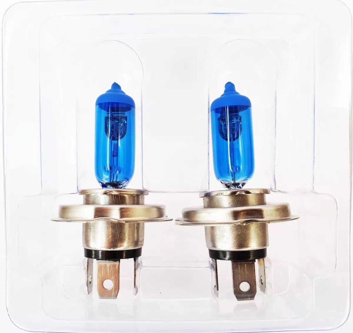 Par Lâmpada Super Branca H4 55w 12v Efeito Xenon Premium Inmetro