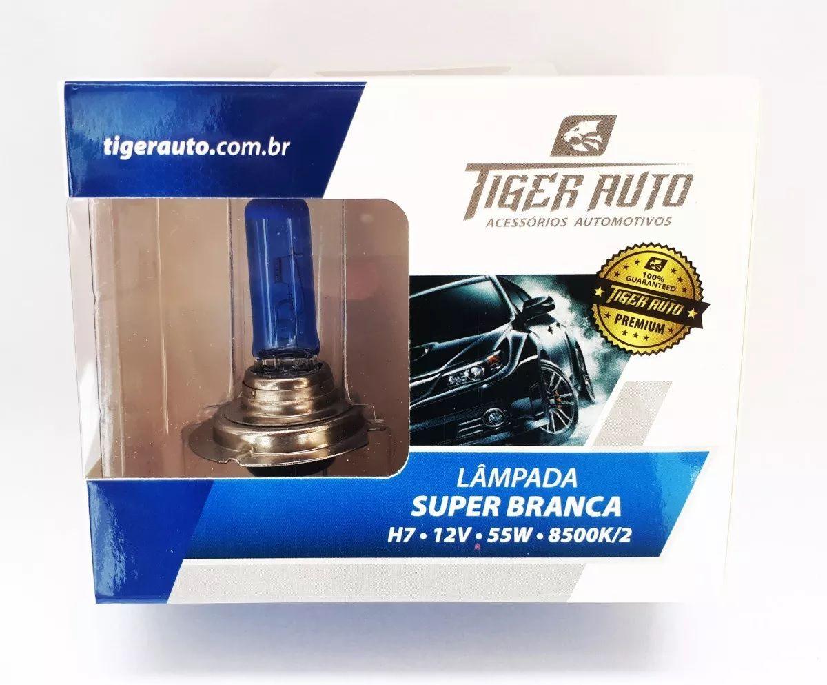 Par Lâmpada Super Branca H7 55w 12v Efeito Xenon Premium Inmetro