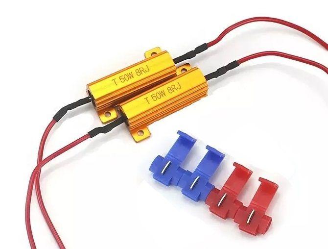 Par Resistor Lampada Led Canceller 50w 8RJ com presilhas