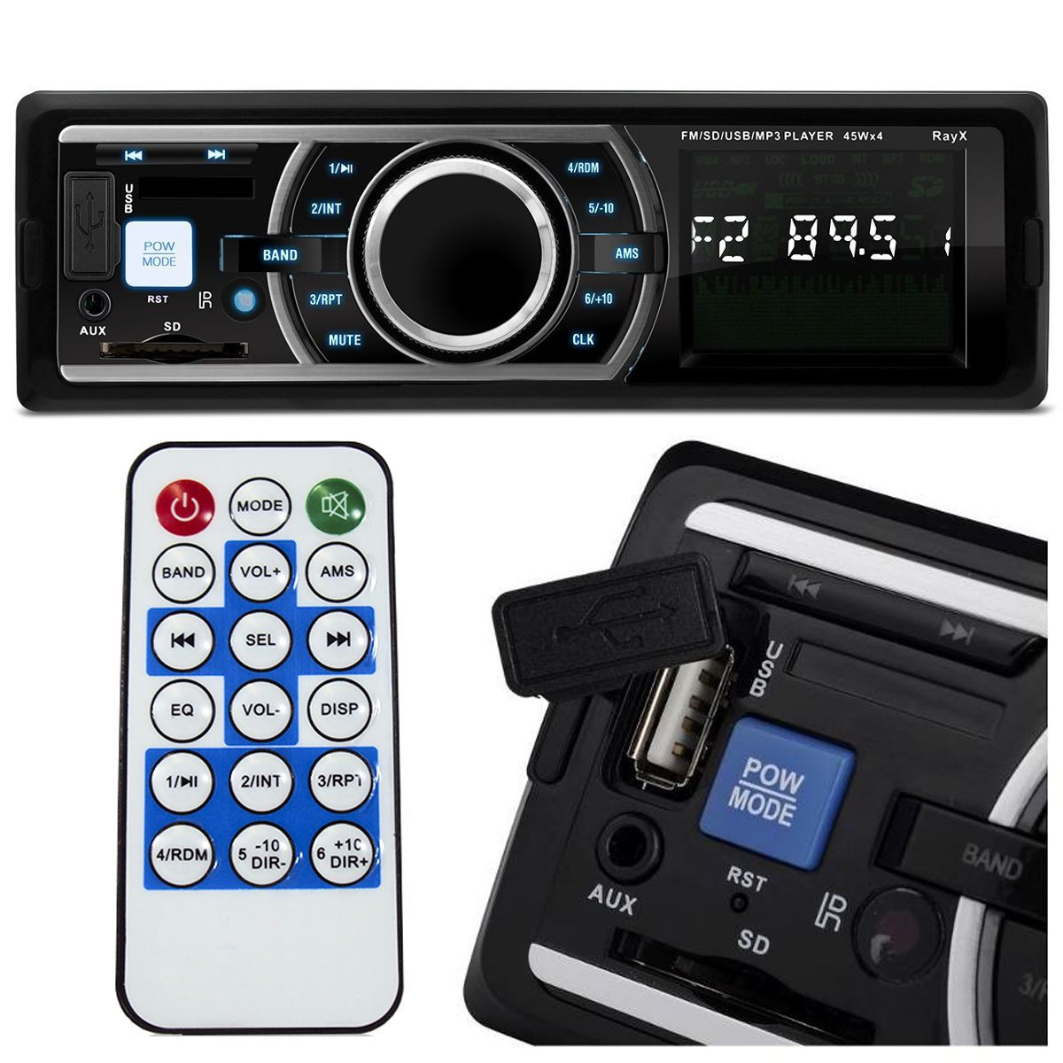 Rádio Mp3 Player Automotivo Usb e Sd com Controle Remoto 6203