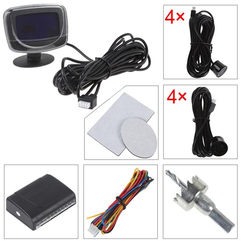 Sensor De Estacionamento 8 Pontos Preto Com Display LCD