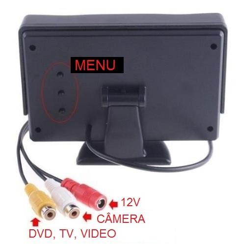 Tela Lcd Tft 4,3  Dual Video