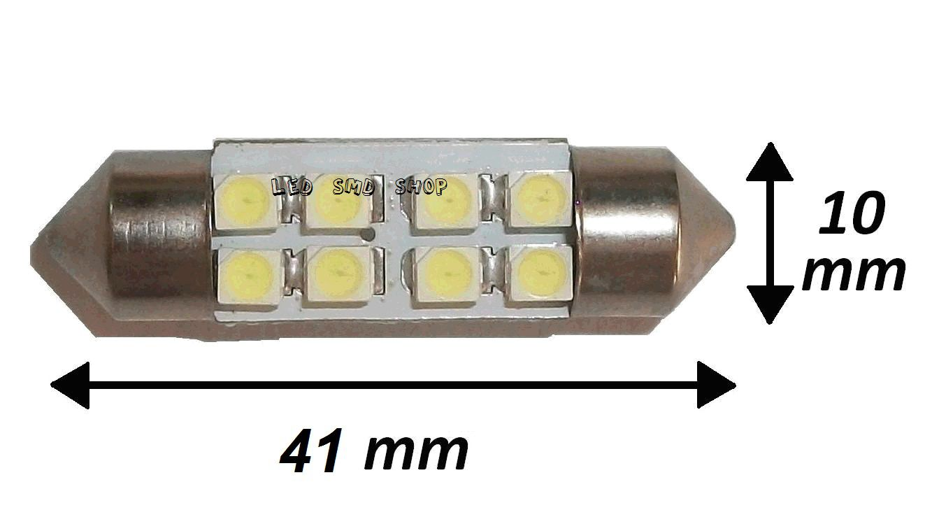 Torpedo 41 Mm 8 Leds Smd Luz Cortesia Placa Teto Kit c/ 10 atacado