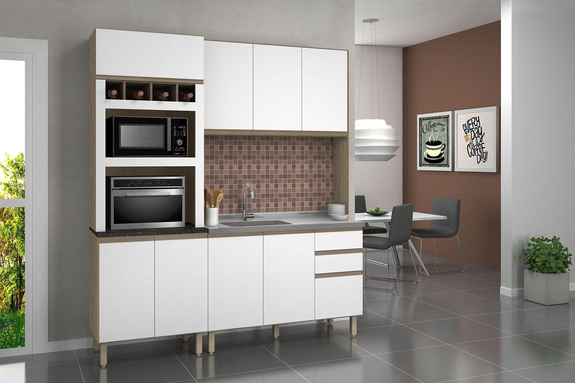 Cozinha Compacta Sis Premium 100 Mdf Nicioli Jolear M Veis
