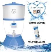 Filtro Purificador De Água Stefani Flex Azul 1v 6 L + Vela Brinde