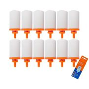 Vela para Filtro de Barro Cristalina Tripla Ação 12 unidades