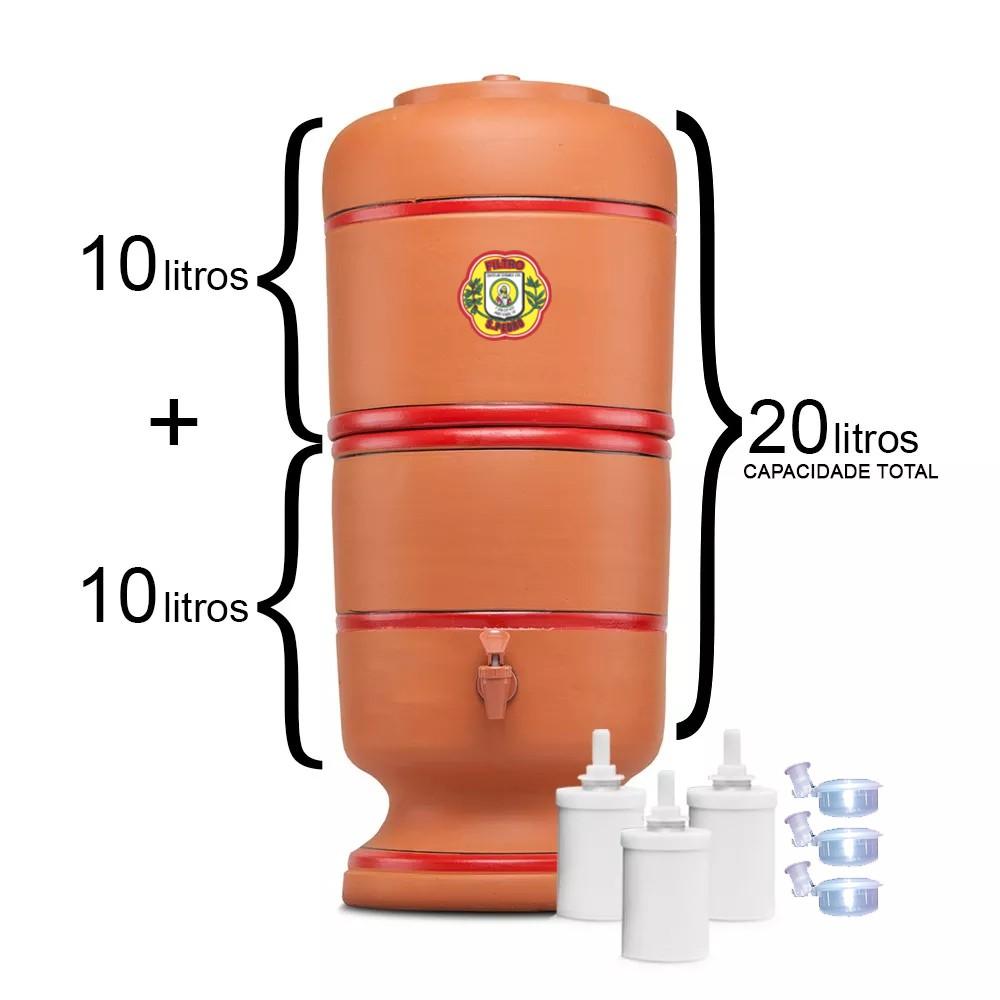 Filtro de Barro São Pedro 10 Litros com 3 Boias e 3 Velas Tradicional  - CN Distribuidora