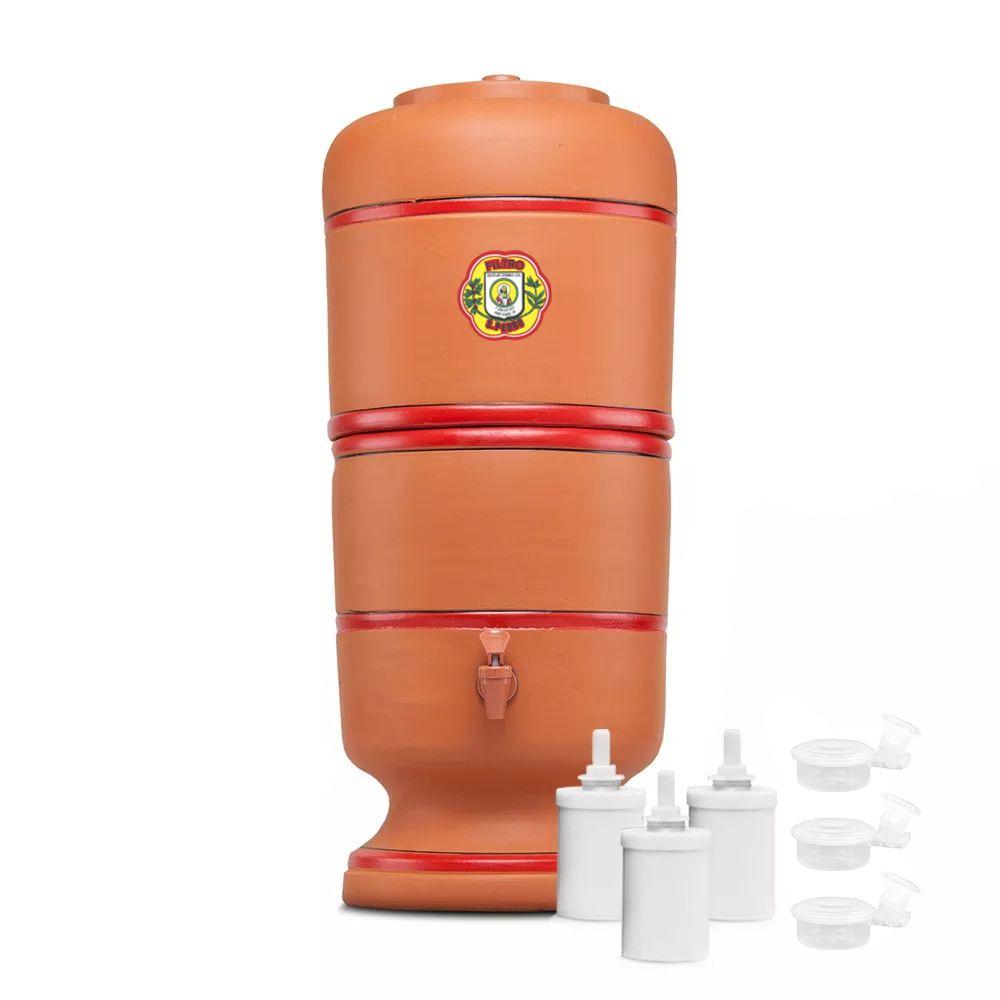 Filtro de Barro São Pedro 10 Litros com 3 Boias e 3 Velas Tripla Ação  - CN Distribuidora