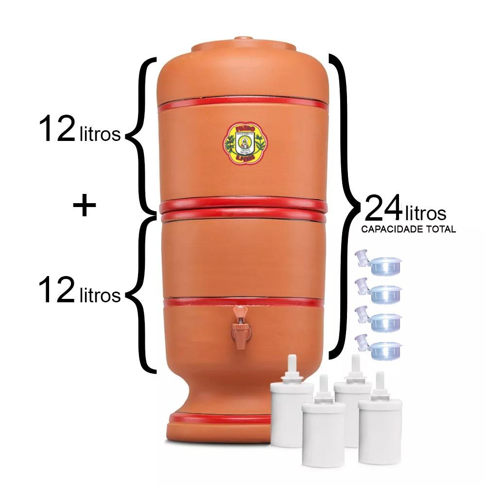 Filtro de Barro São Pedro 12 Litros com 4 Boias e 4 Velas Tradicional  - CN Distribuidora