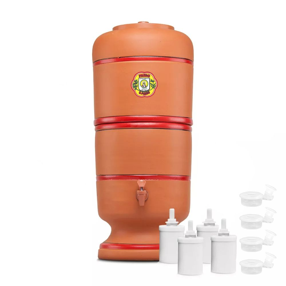 Filtro de Barro São Pedro 12 Litros com 4 Boias e 4 Velas Tripla Ação  - CN Distribuidora
