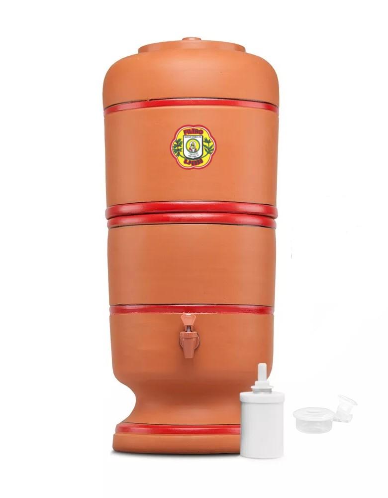 Filtro de Barro São Pedro 6 Litros com 1 Boia e 1 Vela Tradicional  - CN Distribuidora