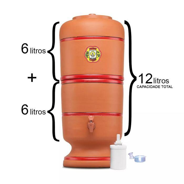 Filtro de Barro São Pedro 6 Litros com 1 Boia e 1 Vela Tripla Ação  - CN Distribuidora