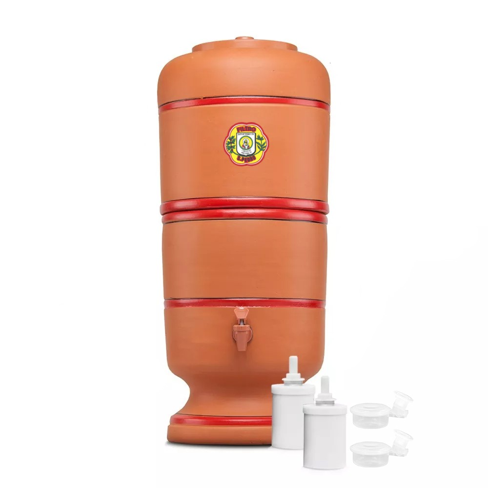 Filtro de Barro São Pedro 8 Litros com 2 Boias e 2 Velas Tradicional  - CN Distribuidora