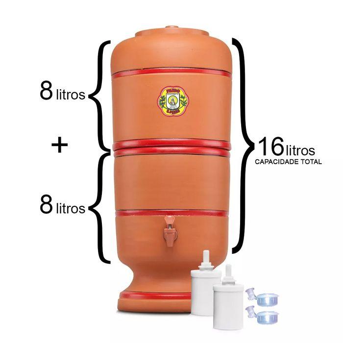 Filtro de Barro São Pedro 8 Litros com 2 Boias e 2 Velas Tripla Ação  - CN Distribuidora