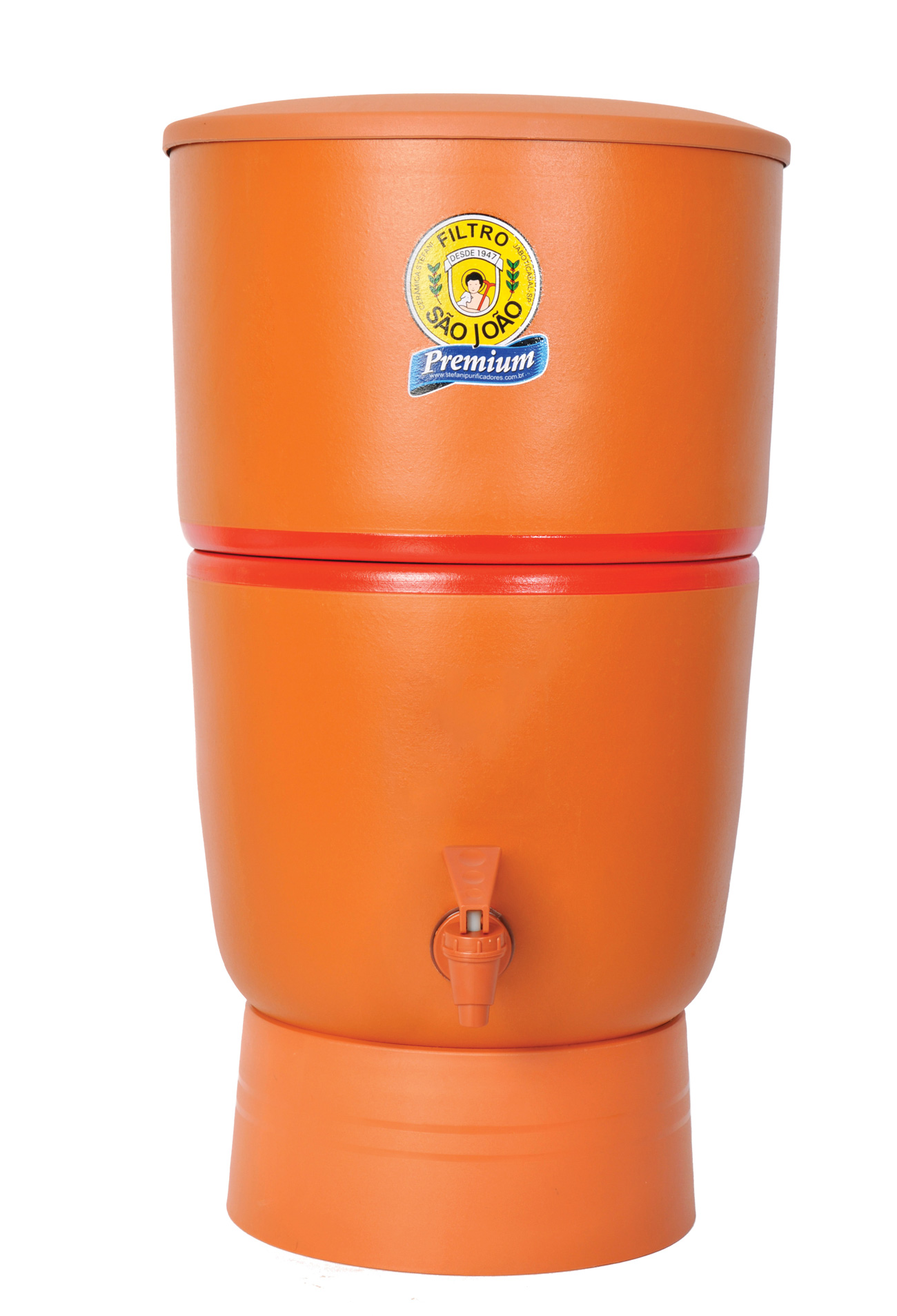 Filtro de Barro Filtro Stefani Filtro São João Premium 6 Litros com 02 Velas Tripla Ação e 02 Boias Dosadoras  - CN Distribuidora
