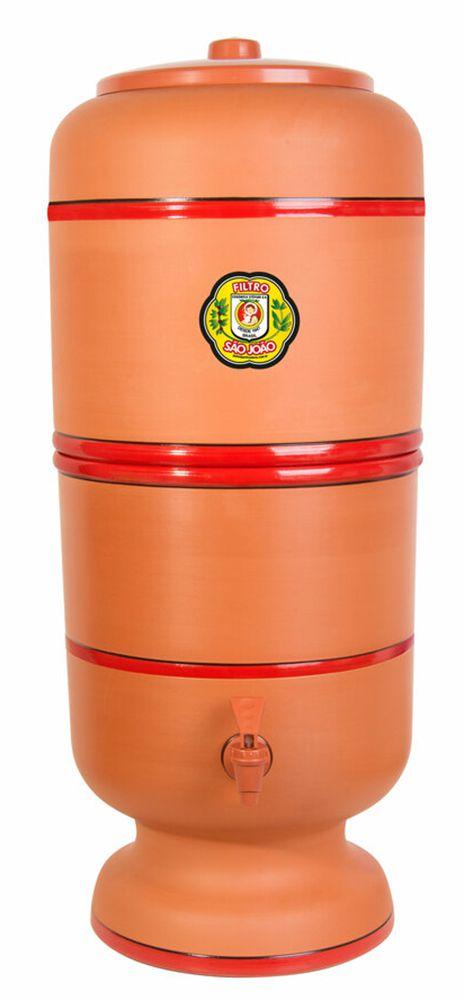 Filtro de Barro Stefani São João Tradicional 8 Litros  - CN Distribuidora