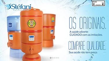 Filtro Purificador de Água Stefani Cristal Exp 6L + kit de manutenção  - CN Distribuidora
