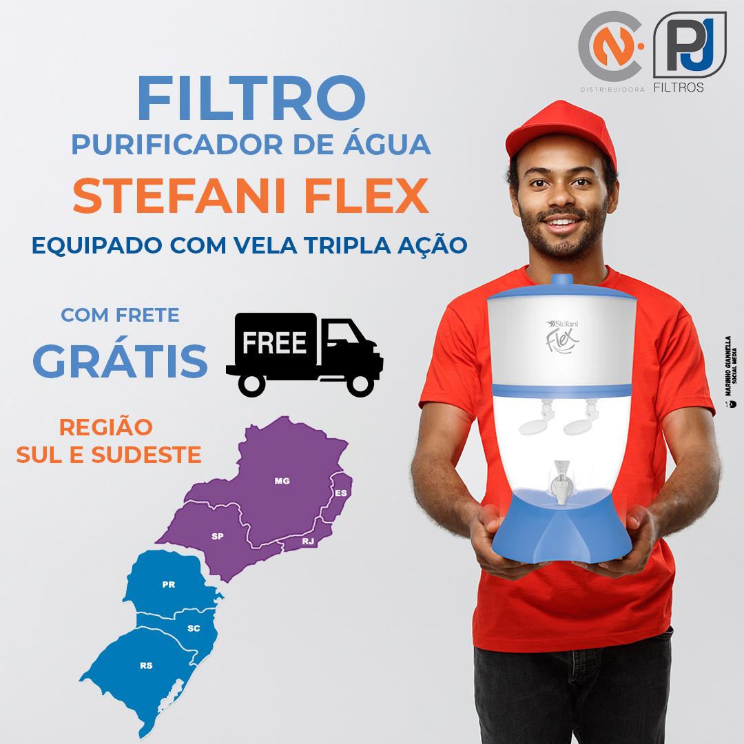 Filtro Purificador de Água Stefani Flex Branco 1v 6L  - CN Distribuidora