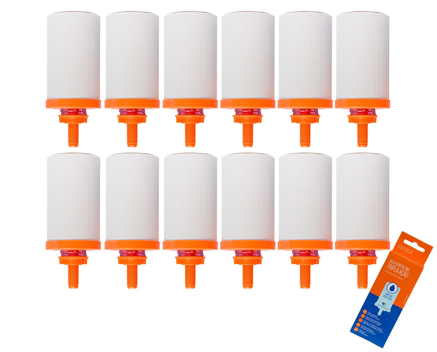 Vela para Filtro de Barro Cristalina Tripla Ação 12 unidades  - CN Distribuidora