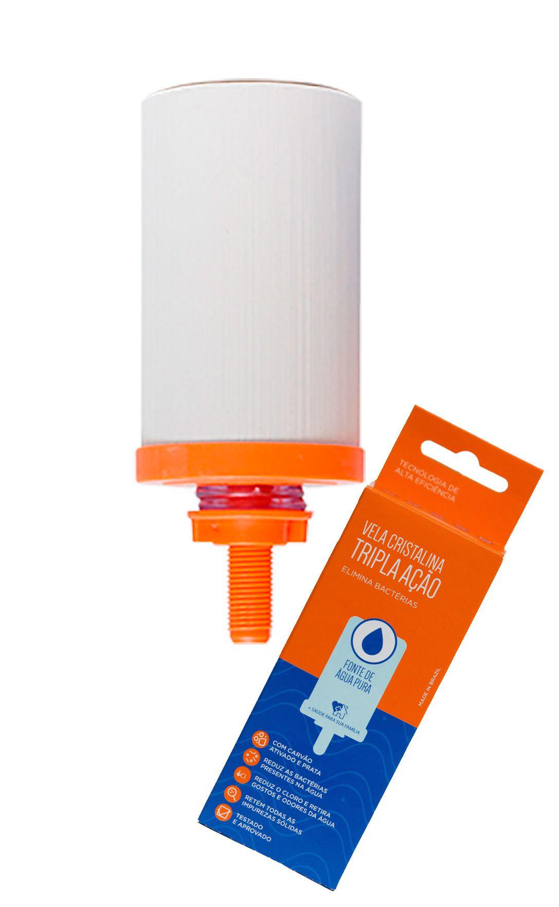 Vela para Filtro de Barro Cristalina Tripla Ação  - CN Distribuidora