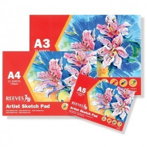 Bloco de Papel Sketch Reeves 130g/m²