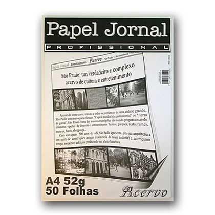 Bloco papel jornal 52g/m²