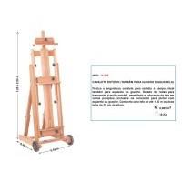 Cavalete Estúdio - Trident 12.335 (também para guache e aquarela) - SOMENTE NA LOJA FÍSICA
