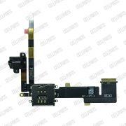 Cabo Flex iPad 2 Conector Fone P2 e Leitor de Sim Card