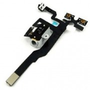 Cabo Flex iPhone 4S A1431 A1387 Botão Volume e Conector Fone P2 Branco