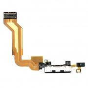 Cabo Flex iPhone 4S A1431 A1387 Conector Carga / Microfone Preto