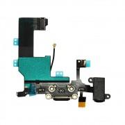 Cabo Flex iPhone 5G A1428 A1429 A1442 Conector Carga / Fone P2 / Microfone Preto