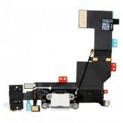 Cabo Flex iPhone 5S A1453 A1457 A1518 A1528 A1530 A1533 Conector Carga / Fone P2 Branco
