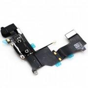 Cabo Flex iPhone 5S A1453 A1457 A1518 A1528 A1530 A1533 Conector Carga / Fone P2 Preto