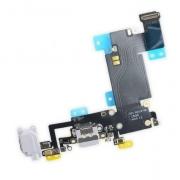 Cabo Flex Iphone 6 Plus A1522 A1524 A1593 Microfone / Fone P2 / Conector Carga Branco