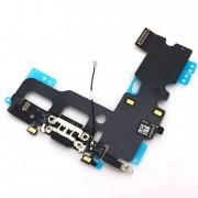 Cabo Flex iPhone 7G A1660 A1778 A1779 Microfone / Conector Carga Preto