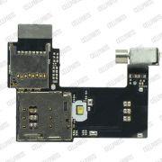 Cabo Flex Motorola Moto G2 XT1068 XT1069 Leitor Sim Card  (Com 1 Sim Apenas)