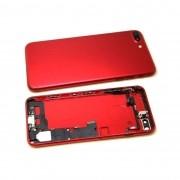Carcaça Iphone 7 Plus A1661 A1784 A1785 Vermelho c/ Flex