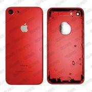 Carcaça Iphone 7g Vermelha - Completa com flex