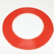 Fita Dupla Face 3mm X 50mt Poliester Vermelha