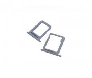 Gaveta Sim Card Samsung A800 A8 Sim 1 e 2 Prata