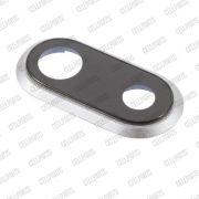 Lente Camera c/ Moldura e adesivo Iphone 8 Plus Prata