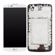 Tela Frontal LG K10 K430 c/ Escrita c/ Ci c/ aro Branco