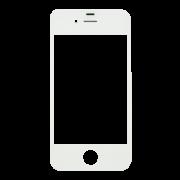 Vidro iPhone 4G Branco
