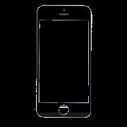 Vidro iPhone 5C Preto