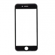 Vidro iPhone 6s Plus A1634 A1687 A1699 Preto c/ Aro
