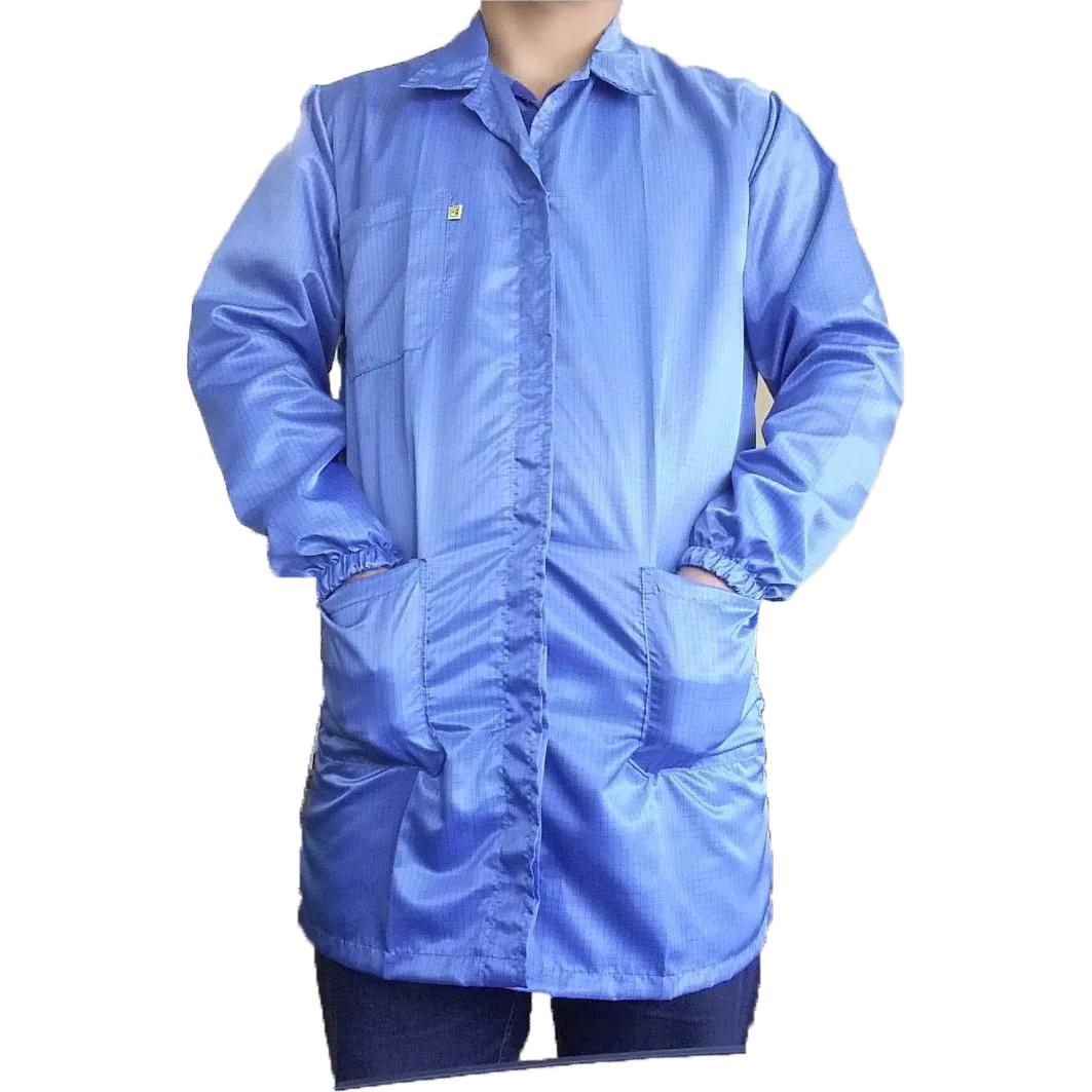 Avental Jaleco Anti Estático Azul Royal G