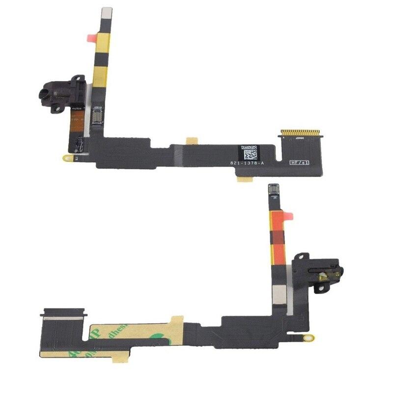 Cabo Flex iPad 2 A1395 A1396 A1397 Conector Fone P2 Preto