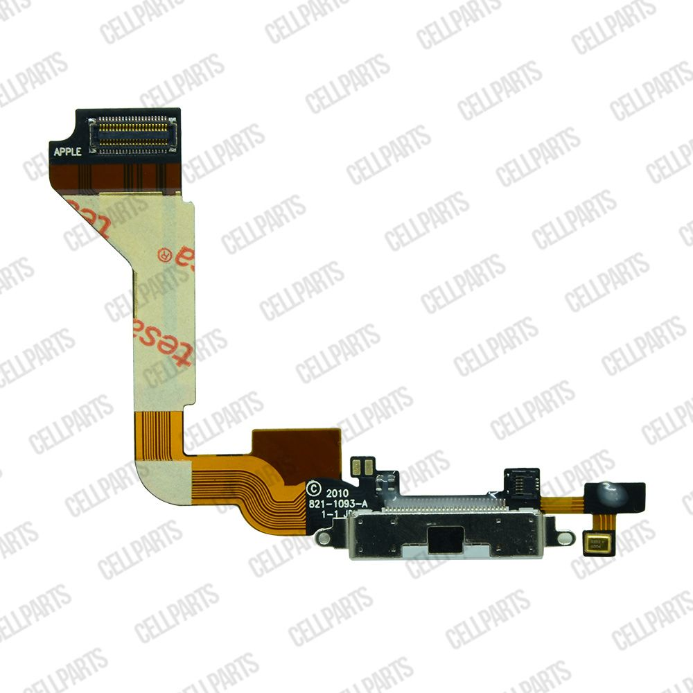 Cabo Flex iPhone 4G Conector Carga Branco e Microfone