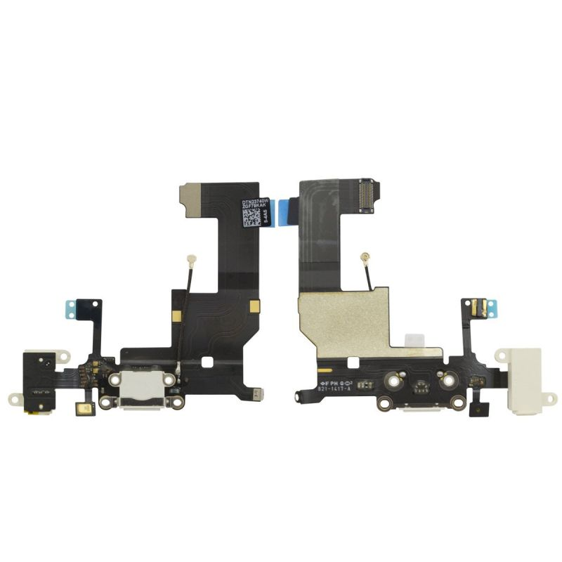 Cabo Flex iPhone 5G A1428 A1429 A1442 Conector Carga / Fone P2 / Microfone Branco