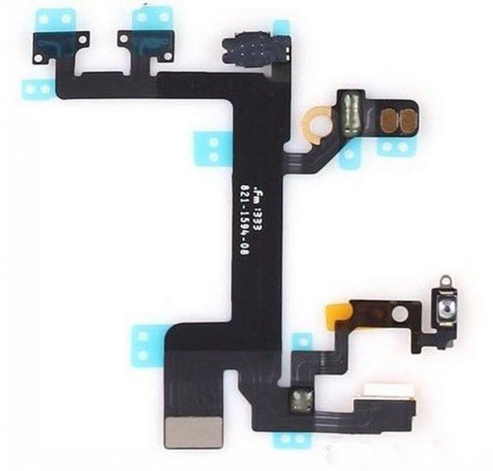 Cabo Flex iPhone 5S A1453 A1457 A1518 A1528 A1530 A1533 Botão Power Menu e Mute